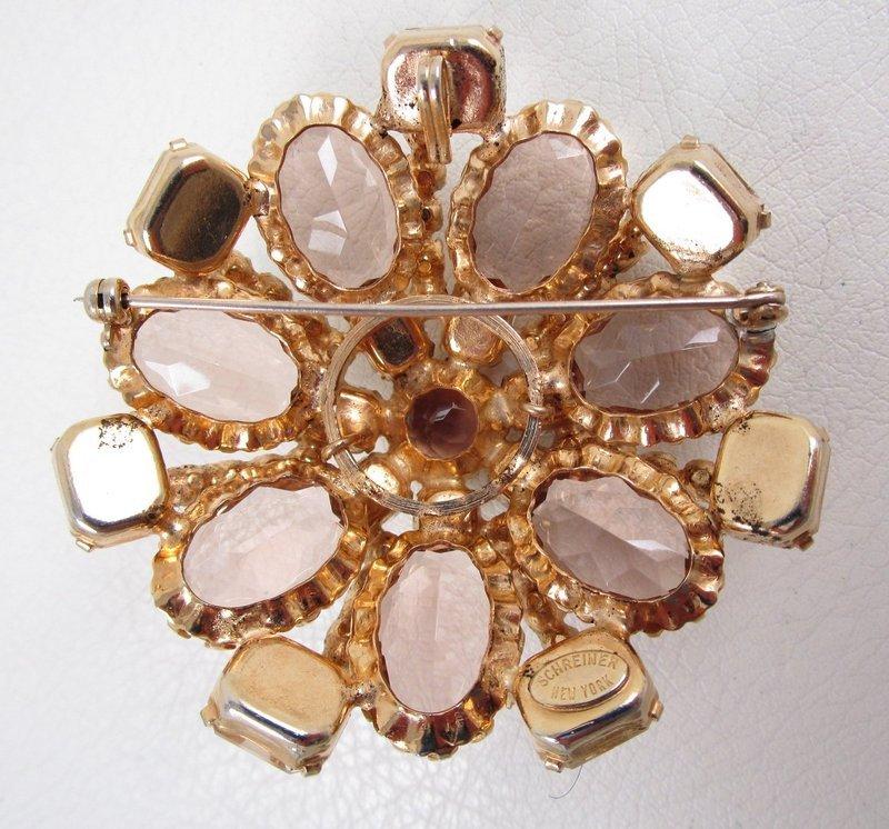 Classic Schreiner of New York Layered Rhinestone Pin