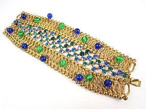 Unusual Countess Cissy Cis Zoltowska Rhinestone Crystal Bracelet