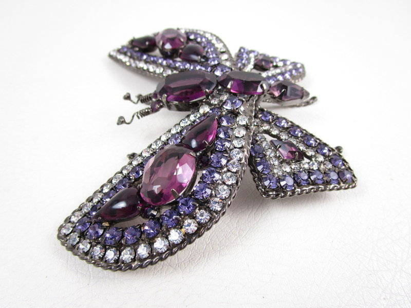 Amazing One of Kind Robert Sorrell Purple Butterfly Pin