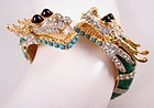 Dramatic Kenneth Jay Lane Rhinestone Dragon Bracelet