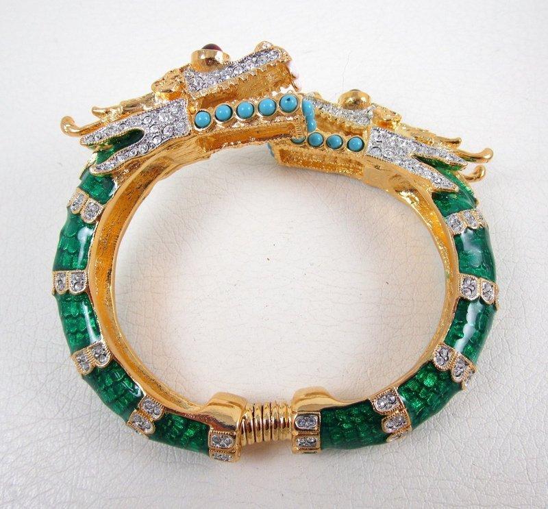 Dramatic Kenneth Jay Lane Rhinestone Dragon Bracelet