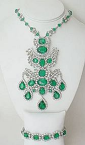 Outstanding Christian Dior Bib Necklace and Bracelet