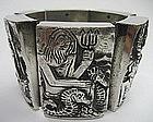 """Rare Line Vautrin """"Les Filles de Zeus"""" Bronze Bracelet"""