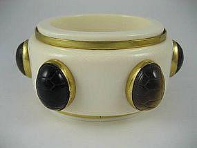 Outstanding Isabel Canovas Ivory Tiger Eye Bracelet