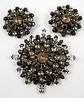 Beautiful Topaz Schreiner Pin and Earrings