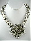 Rare Miriam Haskell Crystal Shoe Button Necklace