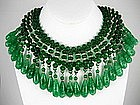 Gripoix Miriam Haskell Melon Bead Bib Necklace