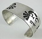 Vintage Sterling Hopi Kokopelli Cutwork Bracelet