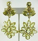 Gorgeous Sterling Gold Vermeil Citrine Earrings