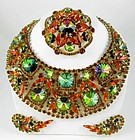 Magnificent Juliana Rivoli Necklace Pin and Earrings