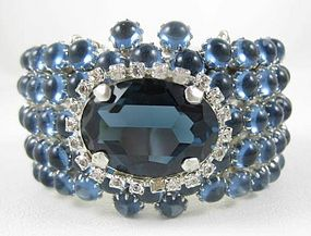Incredible Rodrigo Otazu Blue Rhinestone Bracelet