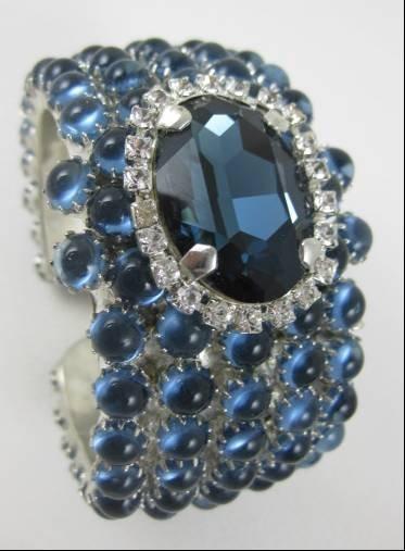 Incredible Rodrigo Otazu Blue Rhinestone Bracelet