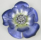 Beautiful Alexis Bittar Lavender Lucite Flower Pin