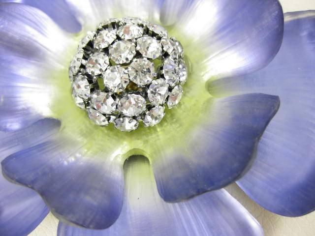 Beautiful Alexis Bittar Lavender Lucite Flower Pin