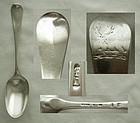 London 1774 Huguenot Sterling Silver Dessert Spoon