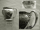 Gorham Art Nouveau Figural Sterling Silver Child's Mug