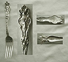"""Wallace """"Irian"""" Figural Sterling Silver Fork"""