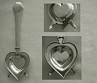 Merrill Co. Heart Shaped Sterling Silver Brandy Warmer
