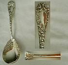 """Durgin """"Chrysanthemum"""" Sterling Silver Sugar Spoon"""