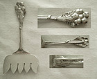 Arts & Crafts Cast Floral Sterling Silver Sardine Fork