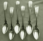 6 Early, Matched Gorham & Webster Reverse Tipt Coin Place Spoons