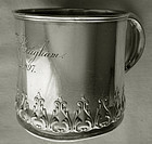 "Gorham Number ""5225"" Sterling Silver Mug, Dated 1897"