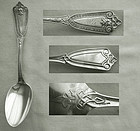 """Whiting """"Ivy"""" Figural Sterling Silver Dessert Spoon"""