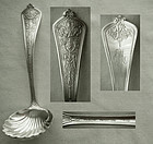 "Gorham Figural ""Lady Washington"" Sterling Shell Bowl Gravy Ladle"