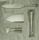 "Clean Gorham ""Norfolk"" Solid Sterling Silver Cake Saw"