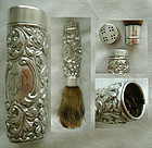 Gorham No. C 75 Repousse Collapsible Sterling Silver Shaving Brush