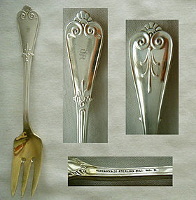 "Tiffany ""Tiffany"" aka ""Beekman"" Early Sterling Silver Salad Fork"
