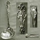 """Wallace Art Nouveau """"Irian"""" Sterling Silver Large Gravy Ladle"""