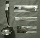 "George Gebelein Arts & Crafts ""Antique Tipt"" Sterling Gravy Ladle"