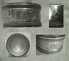 Chased and Engraved 19th Century Sterling Napkin Ring