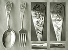 "Gorham ""H469"" & ""H476"" Sterling Child's Fork & Spoon"