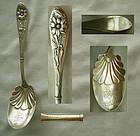 Wallace Art Nouveau Floral Sterling Silver Sugar Spoon