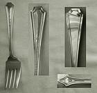 """Old Durgin """"Colfax"""" Sterling Silver Salad Forks"""