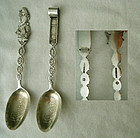"P.W. Ellis ""Toboggan"" and ""Miss Canada"" Sterling Souvenir Spoons"