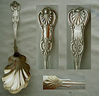 "Wallace ""Kings"" Large Shell Bowl Sterling Serving Spoon"