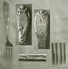 "Old Tiffany ""Chrysanthemum"" Sterling Silver Youth Fork"