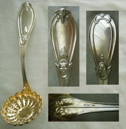 "Henry Hebbard ""Grecian"" Coin Silver Figural Sugar Sifter"
