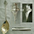 "Gorham ""Ivy"" Shell Bowl Sterling Silver Serving Spoon"