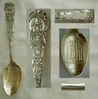 "Wallace ""Chicago Masonic Temple"" Sterling Silver Souvenir Spoon"