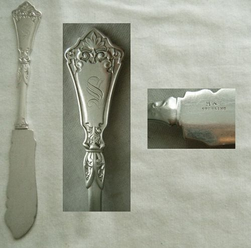 "Hotchkiss & Schreuder ""Unique"" Sterling Silver Master Butter Knife"