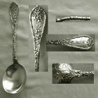 "Durgin ""Dauphin"" Sterling Silver Large Bowl Gumbo Spoon"