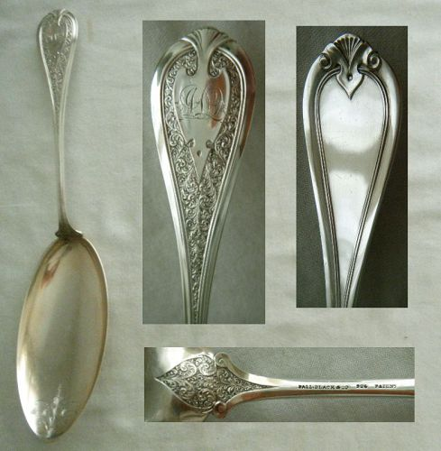 "Rare Wendt ""Florentine"" Sterling Silver Pudding Serving Spoon"