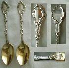 """Pair Gorham """"Marie Antoinette"""" Sterling Silver Coffee Spoons"""