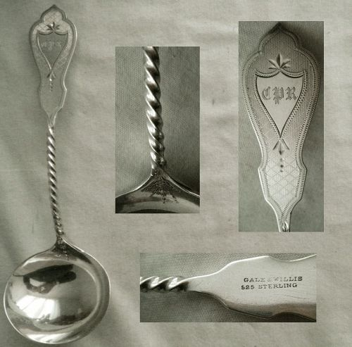 Gale & Willis Sterling Silver Engraved Gravy Ladle