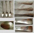 "Gorham ""Nightingale"" Three Sterling Silver Demitasse Spoons"