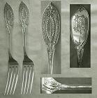 "Pair Shiebler ""Princess"" Sterling Silver 7 1/4"" Place Forks, Mint"